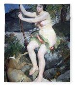 Renoir's Diana Fleece Blanket