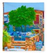 Colourful Restaurant Fleece Blanket