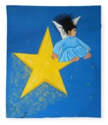 Ride A Shooting Star Fleece Blanket