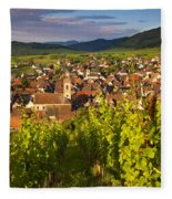 Riquewihr Alsace Fleece Blanket