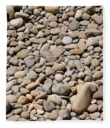 River Rocks Pebbles Fleece Blanket