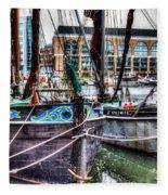 River Thames Sailing Barges. Fleece Blanket