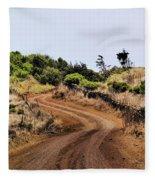 Road On Hierro Fleece Blanket