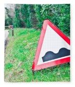 Road Sign Fleece Blanket