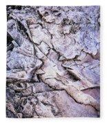 Rocks At Georgian Bay Fleece Blanket