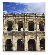 Roman Arena In Nimes France Fleece Blanket