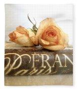 Paris Romantic Fleece Blanket