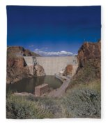 Roosevelt Dam Arizona Fleece Blanket