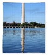 Roosevelt Looking At Washington Fleece Blanket