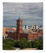 Rotes Rathaus Berlin Fleece Blanket