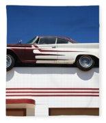 Route 66 - Desoto's Salon Fleece Blanket