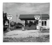 Route 66 Gas Station Fleece Blanket
