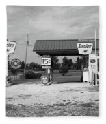 Route 66 Gas Station Fleece Blanket