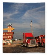 Route 66 - Rest Haven Motel Fleece Blanket