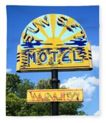 Route 66 - Sunset Motel Fleece Blanket