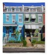 Row Houses In Washington D.c. Fleece Blanket