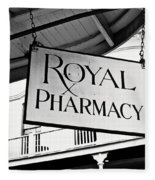 Royal Pharmacy - Bw Fleece Blanket