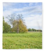 Rural Scene Fleece Blanket