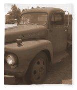 Rusty Ford Truck Fleece Blanket