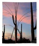 Saguaro Silhouettes Fleece Blanket