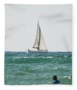 Sailing In California Fleece Blanket