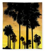 San Diego Sunset Fleece Blanket
