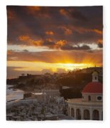 San Juan Sunrise Fleece Blanket