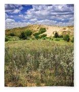 Sand Dunes In Manitoba Fleece Blanket