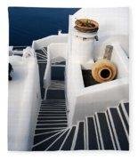 Santorini Steps Fleece Blanket