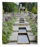 Sarah Lee Baker Perennial Garden 3 Fleece Blanket