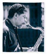 Saxophone Player Fleece Blanket