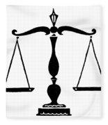 Scales Of Justice Fleece Blanket