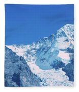 Scenic View Of Eiger And Monch Mountain Fleece Blanket