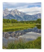 Schwabacher Landing - Grand Tetons Fleece Blanket