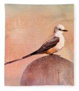 Scissor-tailed Flycatcher Fleece Blanket