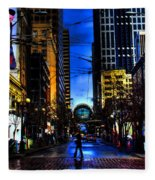 Seattle Streets Fleece Blanket