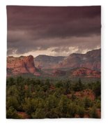 Sedona Red Rocks  Fleece Blanket