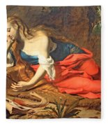 Seghers' The Repentant Magdalen Fleece Blanket