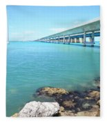 Seven Mile Bridge-1 Fleece Blanket