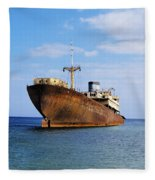 Shipwreck On Lanzarote Fleece Blanket