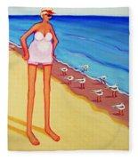 Shorebirds Of A Feather Fleece Blanket