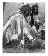 Sioux Medicine Man, C1907 Fleece Blanket