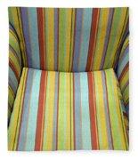 Sitting On Stripes Fleece Blanket