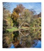 Skaryszewski Park In Warsaw Fleece Blanket
