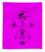 Skull In Purple Fleece Blanket