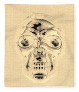 Skull In Sepia Fleece Blanket