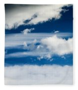 Sky With Clouds Fleece Blanket