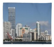 Skyline Miami Fleece Blanket