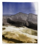 Slope Of Hills In The Scottish Highlands Fleece Blanket