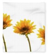 Small Sunflowers Or Helianthus Fleece Blanket